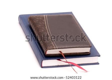 Two diary on white background