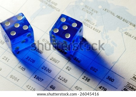two dices on chart