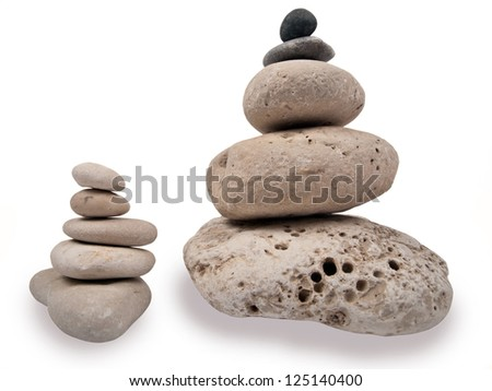 two different towers of sea stones