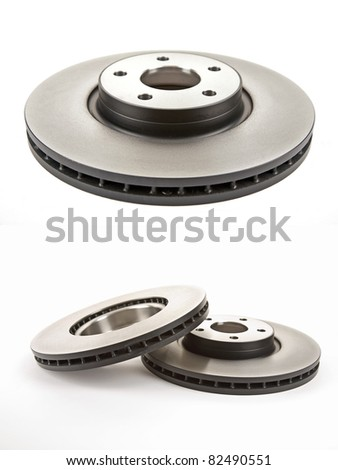 two different views of the brake discs