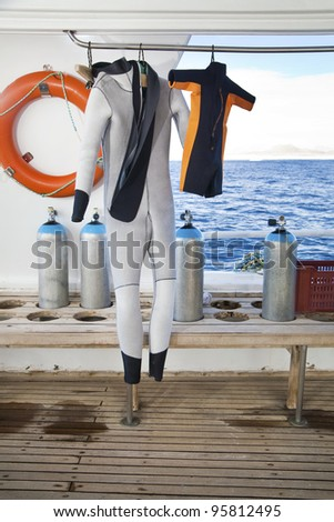 Two Diving Suits: one for Adult and one for Child