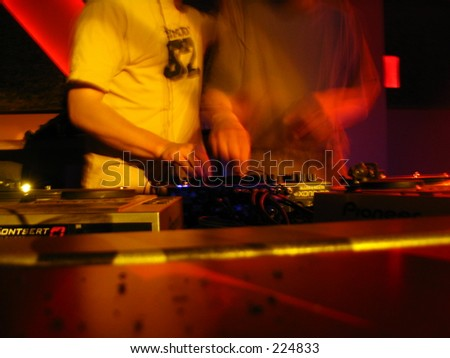 two dj`s playing