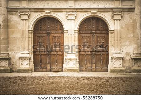 two doors - stock photo