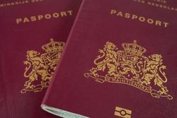 Two Dutch Passports close up