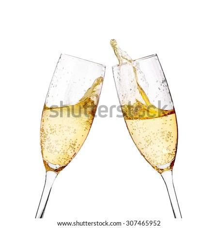 Two elegant champagne glasses #307465952