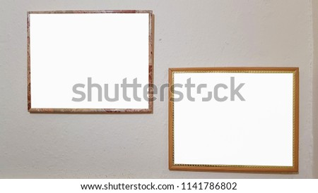 Free photos Vintage frame on white background with clipping path ...