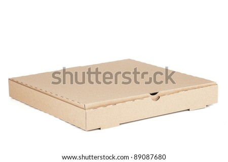 two empty pizza boxes