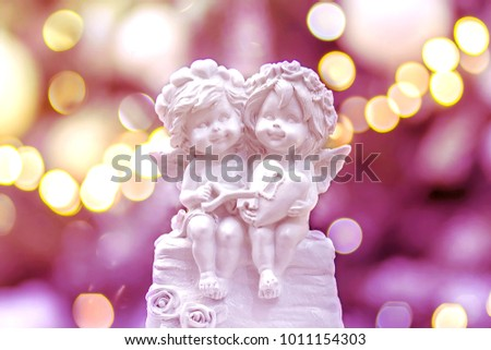 two enamored angels from gypsum #1011154303