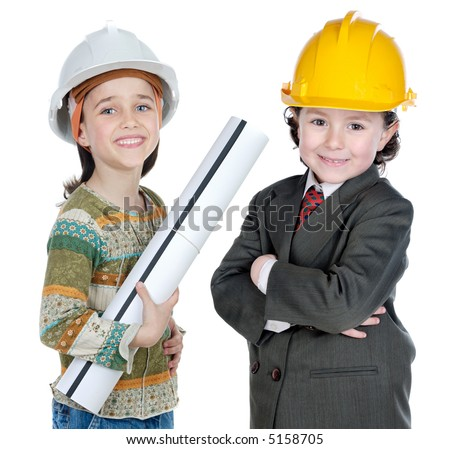 two engineer futures a over white background