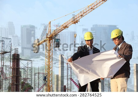 two engineer on site