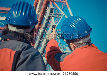 Two Engineers in a Construction Site