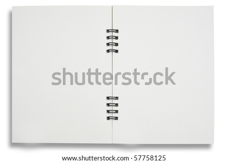 two face notebook for  background and text