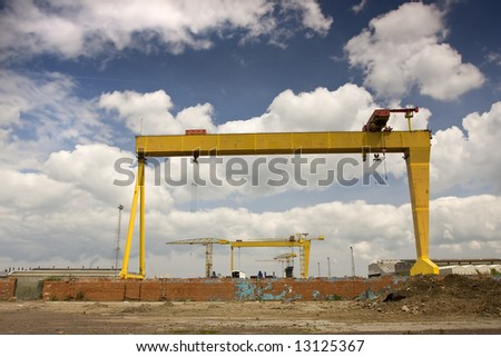 two famous cranes from belfasts titanic quarter