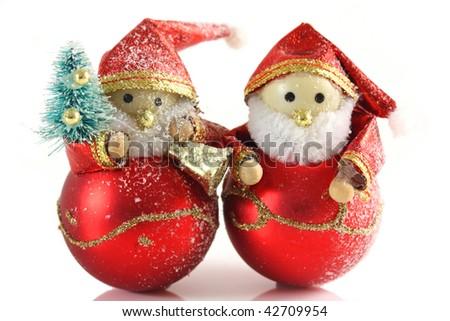 Two Father Christmas Figures