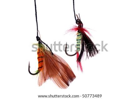 two fishhoks ,isolated