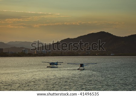 Two Float Planes in Cairns Harbor, Australia