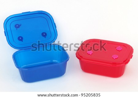 Two food plastic containers, storage