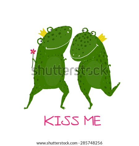 Two Frogs in Love Two Frogs Prince And Princess
