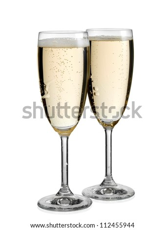 Two full glasses with champagne
