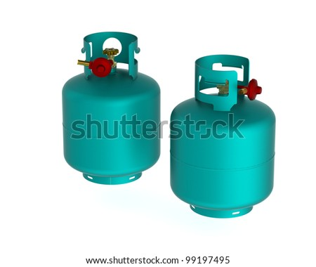 Two Gas on a white background.