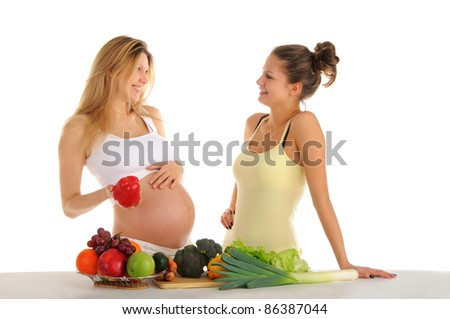 stock photo two gay girlfriends with fruits and vegetables isolated on white 86387044 stock photo : Two gay girlfriends with fruits and vegetables isolated on ...