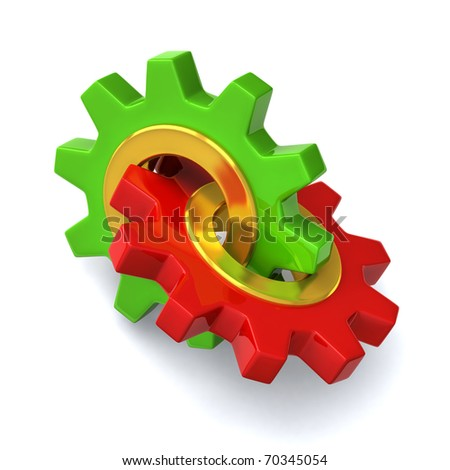 Two gears together
