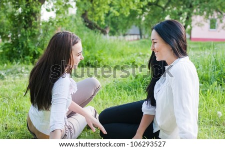 two girls outdoor