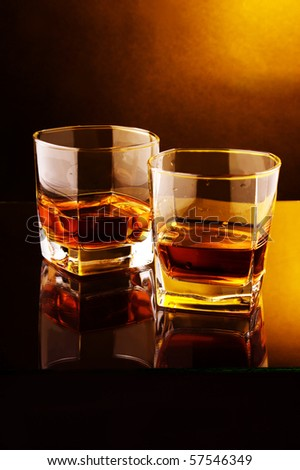 two glass of whiskey