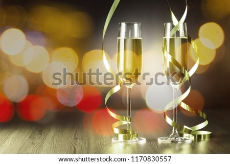 Two glasses of champagne #1170830557