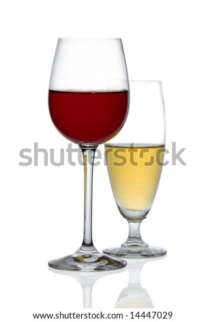 two glasses of wine. stock photo : Two glasses of wine