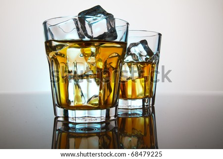 Two glasses whisky