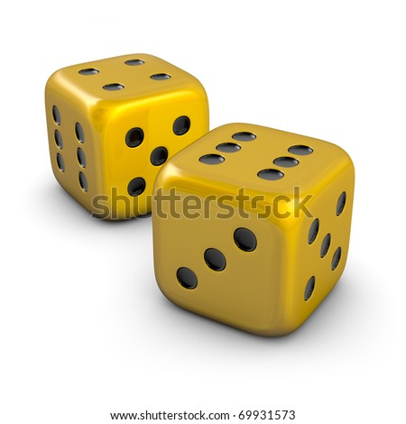 two golden dice