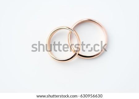 two golden wedding rings...