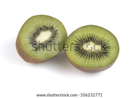 Two halves of kiwi
