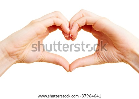 Two hand forming a heart shape with the fingers