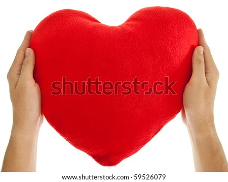 Two hands Holding the Heart
