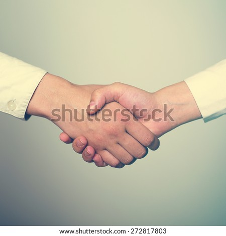 Two hands in Handshake - Business Handshaking
