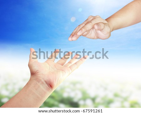 Two hands in the park