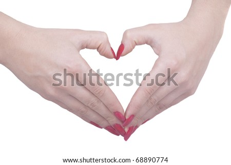 Two hands making heart