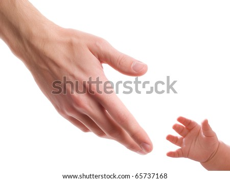Two hands - one of man and one of child