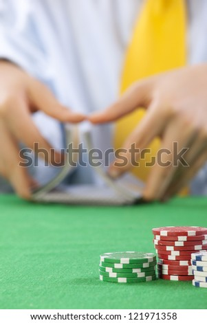 Two deck poker hands