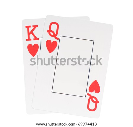 Playing Cards Hearts Two Hearts Blank Playing Cards