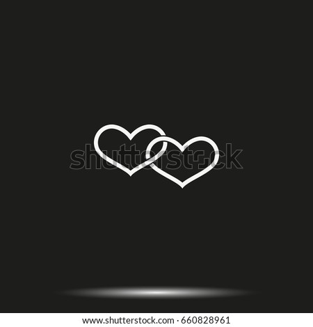 Two hearts connected icon. #660828961