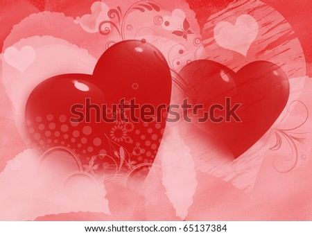 hearts valentines. two hearts valentines day