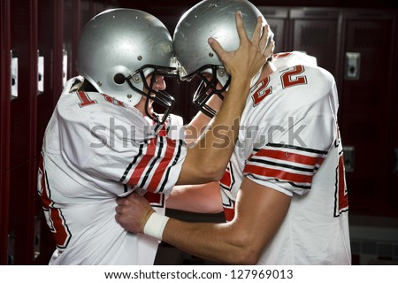 Two High School football players