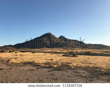 two inactive volcanic mountings at San Jose Spain