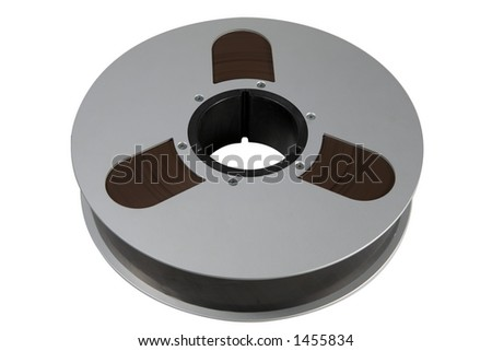 Two inch wide magnetic audio tape  used for professional multitrack recording. - stock photo