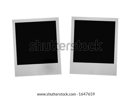 two instant photo frames