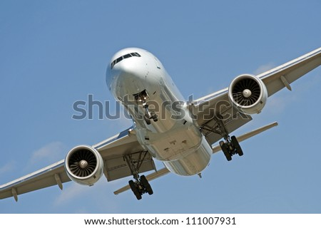 Two jet engine aircraft before landing