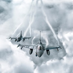 Two jets in sky
